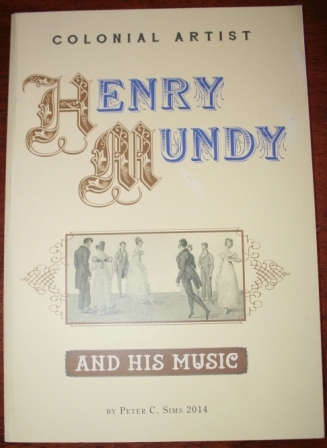 Colonial Artist Henry Mundy and his music, signed