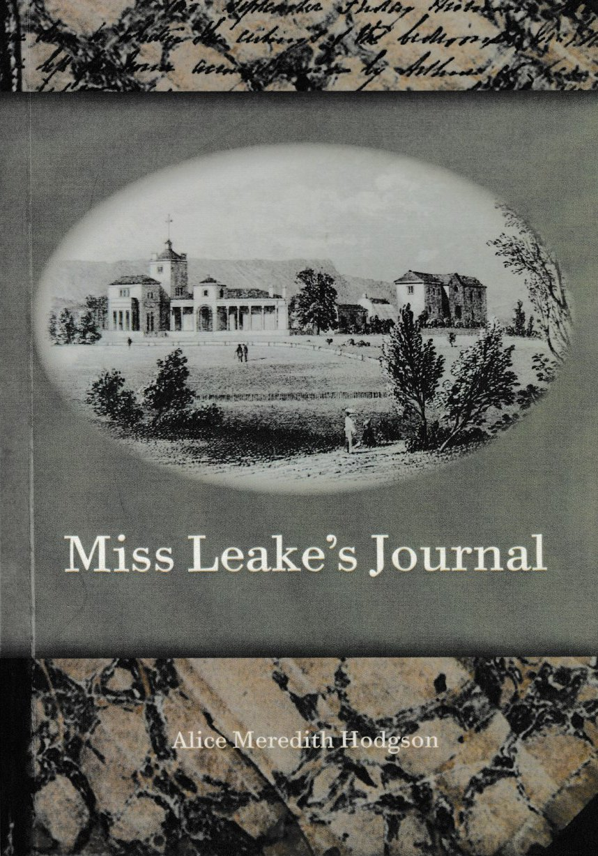 Miss Leake's Journal - Rosedale, Campbell Town, Midlands history