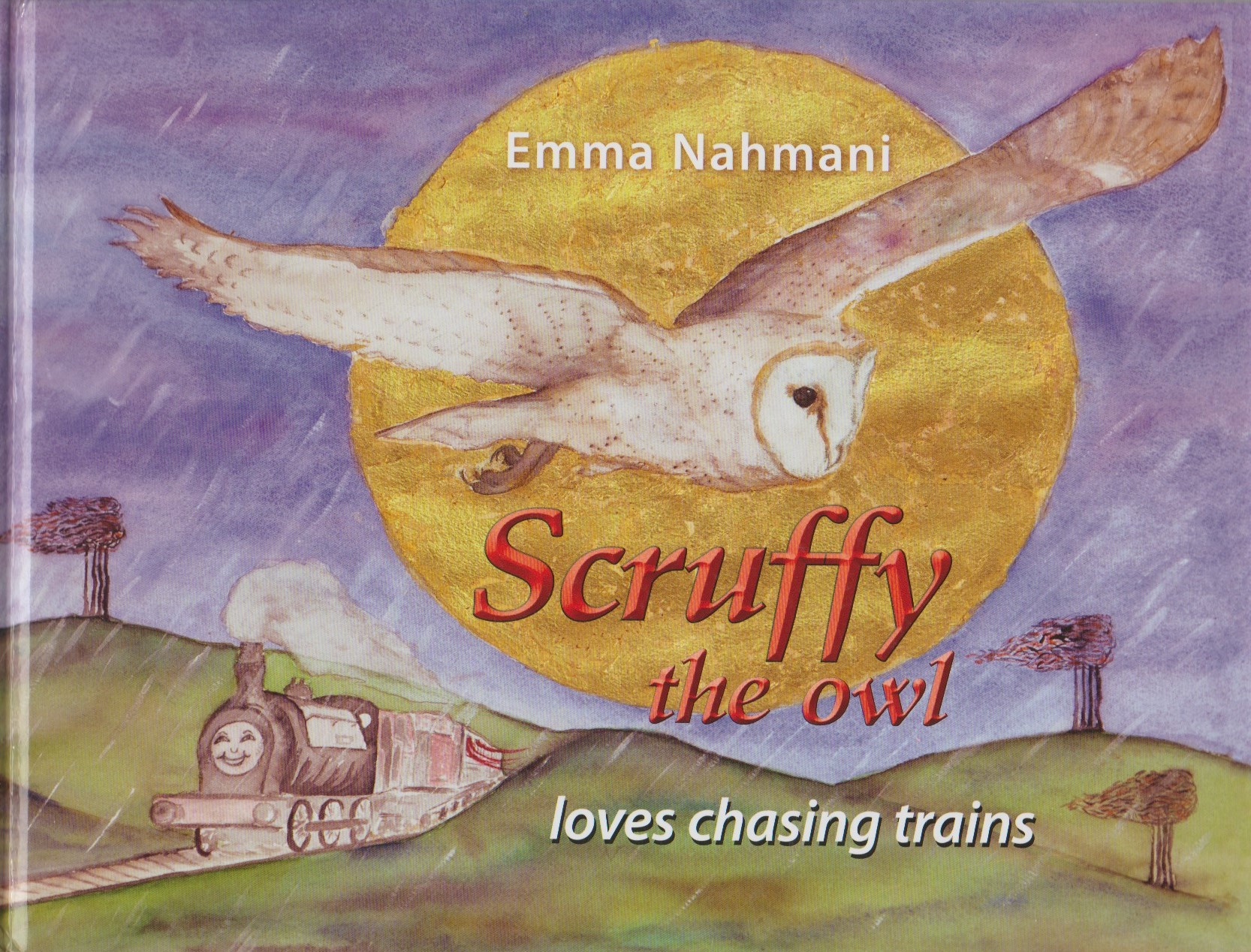 Scruffy the Owl Loves Chasing Trains