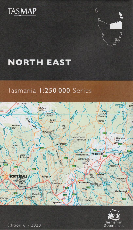 Tasmap Tasmania North East 1:250 000 map