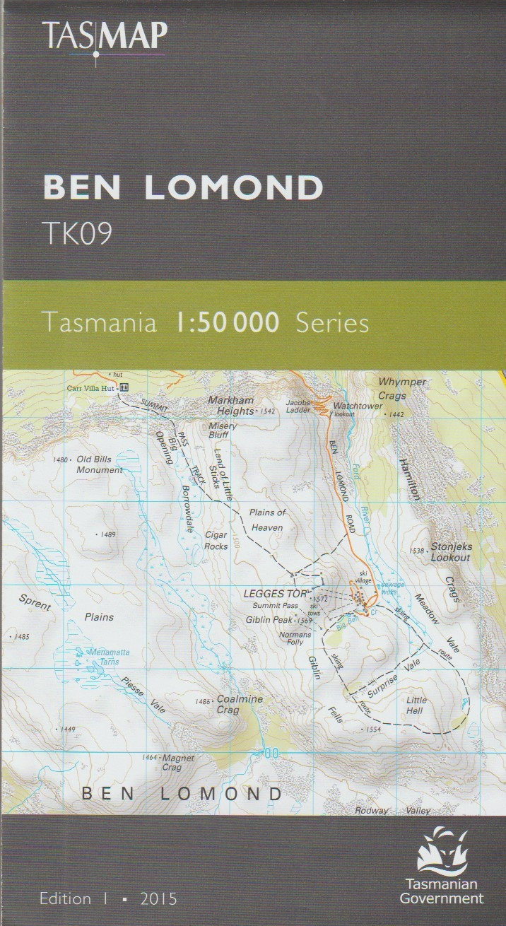 TASMAP Ben Lomond map