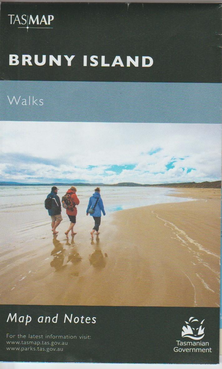 TASMAP Bruny Island Walks Map and Notes