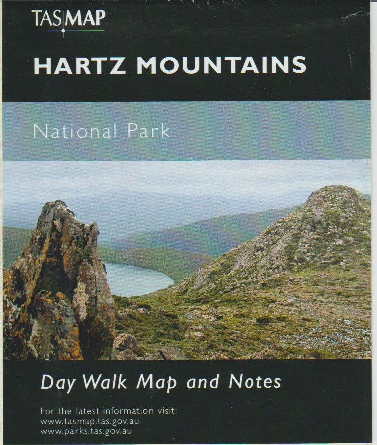 TASMAP Hartz Mountains day walk map and notes
