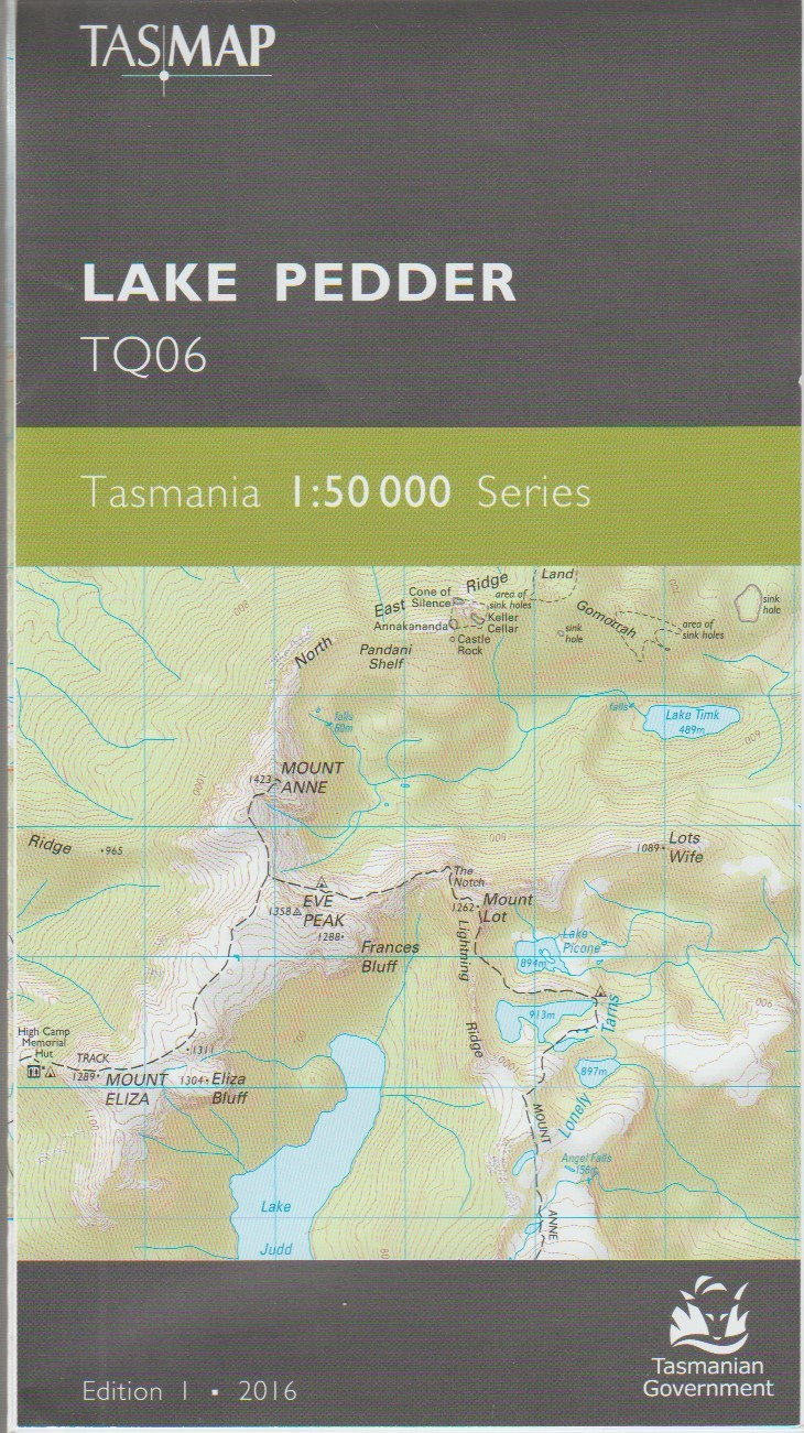 TASMAP Lake Pedder map
