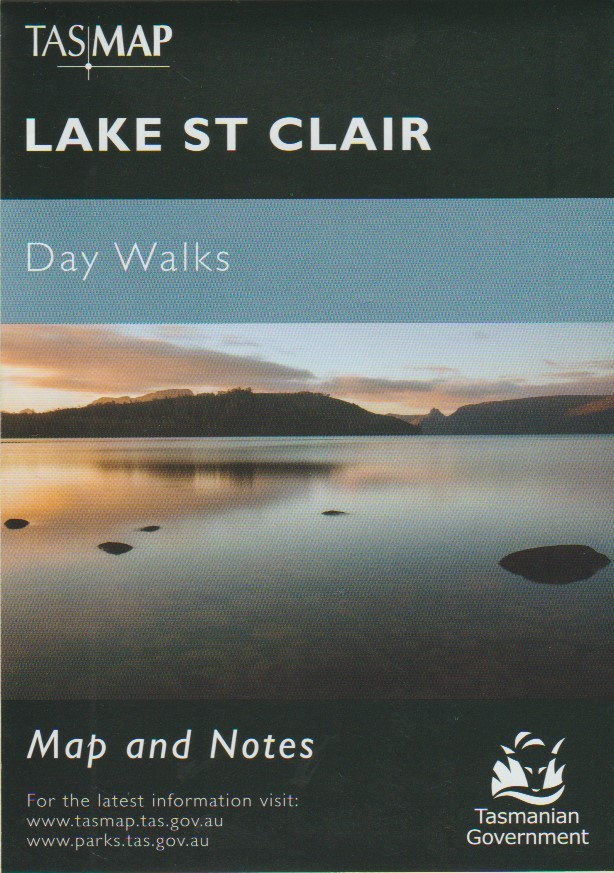 TASMAP Lake St Clair Day Walks map and notes