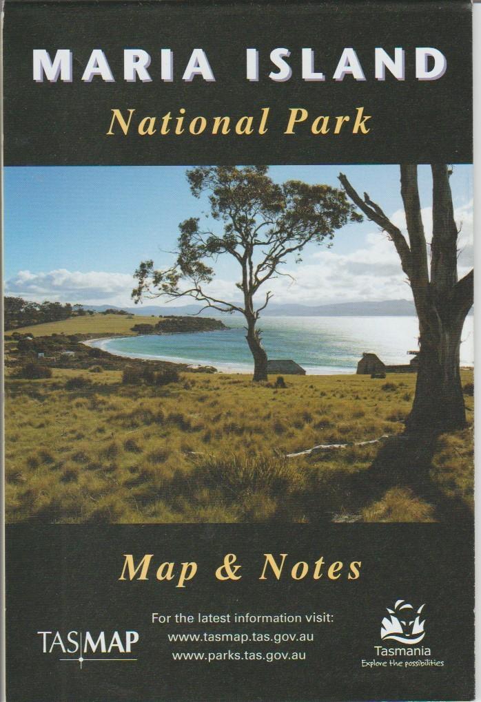 TASMAP Maria Island National Park map and notes
