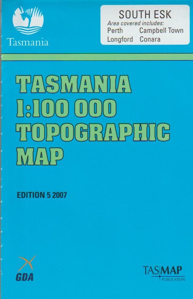 Tasmap South Esk map