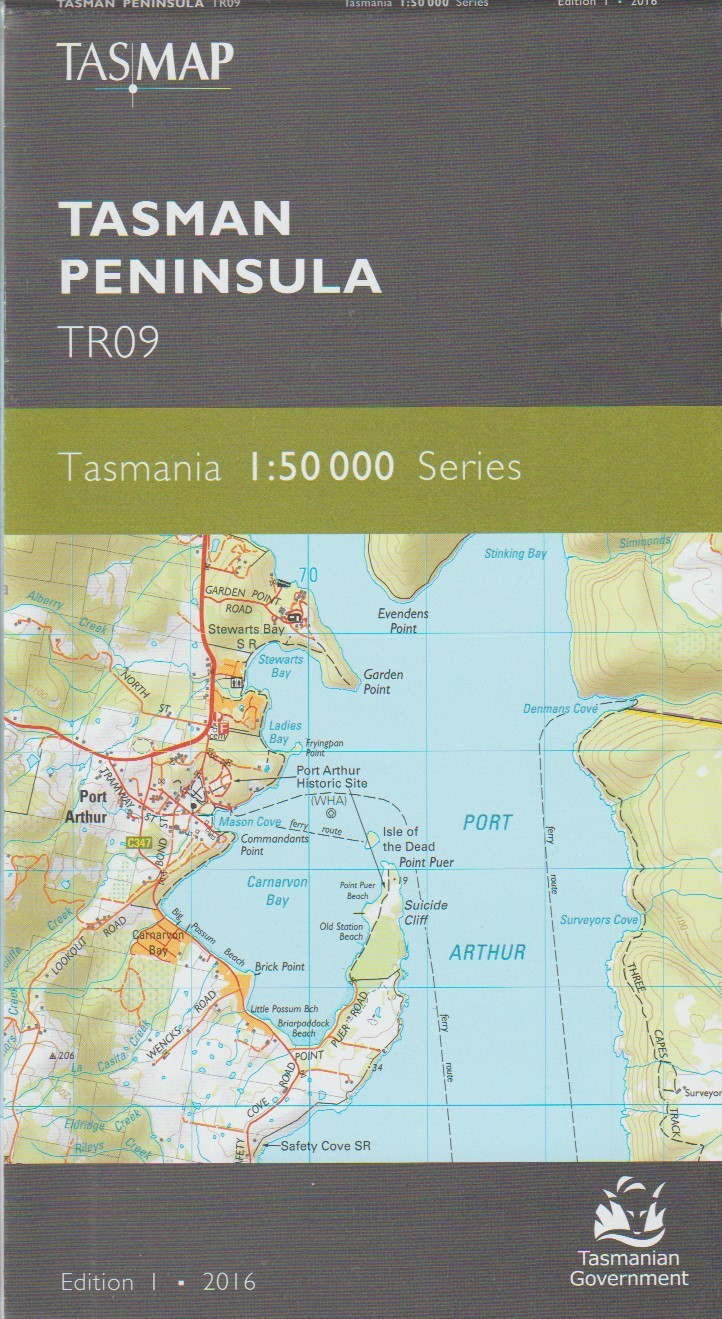 TASMAP Tasman Peninsula map