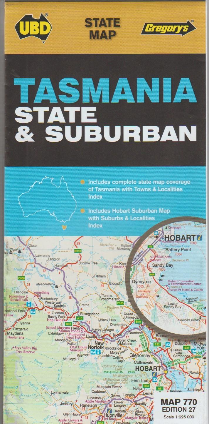 Tasmania State & Suburban Map
