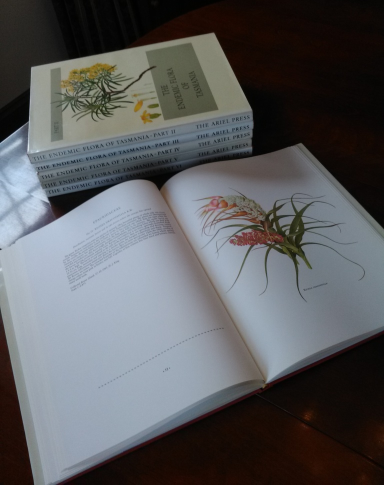 The Endemic Flora of Tasmania - 6-volume set signed by the artist