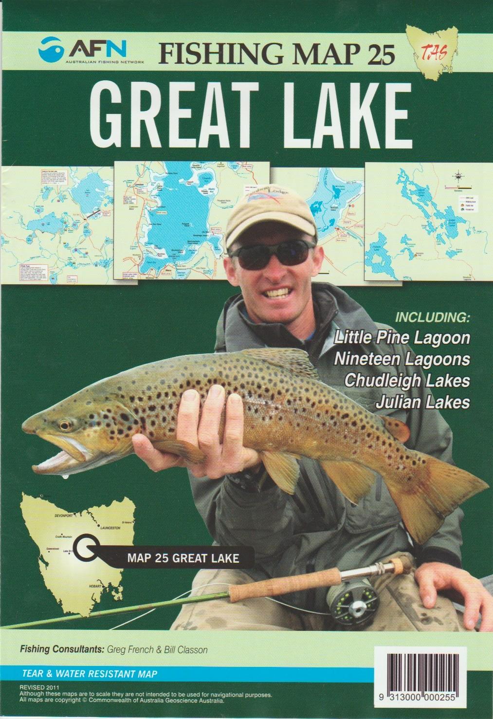 Fishing Map # 25 Great Lake including Nineteen Lagoons, Little Pine Lagoon