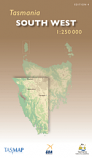 Tasmap Tasmania South West 1:250 000 map