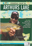 Fishing Map # 26 Arthurs Lake