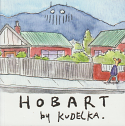 Hobart by Kudelka - watercolour sketches
